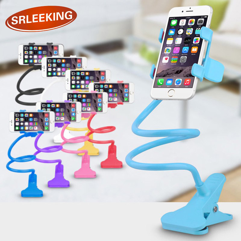 SRLEEKING Extendable Phone Holder Lazy Bed Bracket Kit Rotating Stand Support Cell Phone ...