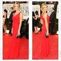 New Styles Sexy Red Mermaid Long Back Bow Celebrity Dresses 2016 Customize vestido de festa