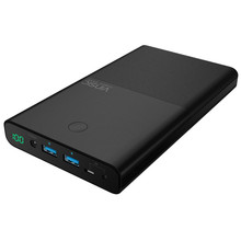 Vinsic 30000mAh Power Bank 4.5A 19V DC 2 USB High-End External Battery Charger for iPhone X 8 8 Plus /Laptops Notebooks Tablets