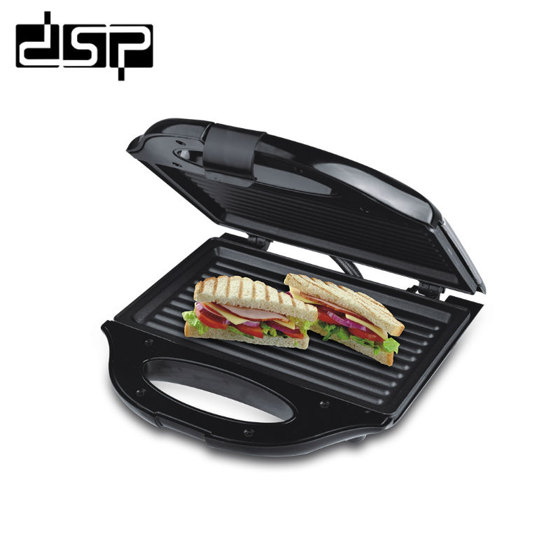 <font><b>DSP</b></font> <font><b>Mini</b></font> Sandwich Machine Breakfast Electric Baking Pan EU Plug Household Camping Travel Application 750W 220-240V image