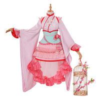 Anime Card Captor KINOMOTO SAKURA Cosplay Costume Year of the Dog New Year Outfit Lolita Dress