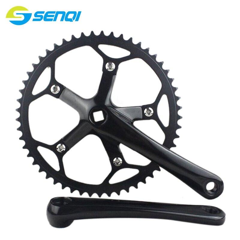 BMX 자전거 단일 속도 통합 자전거 크랭크 및 체인 휠 도로 자전거 53 톤 * 170 미리 메터 고정 기어 자전거 크랭크 CZY009