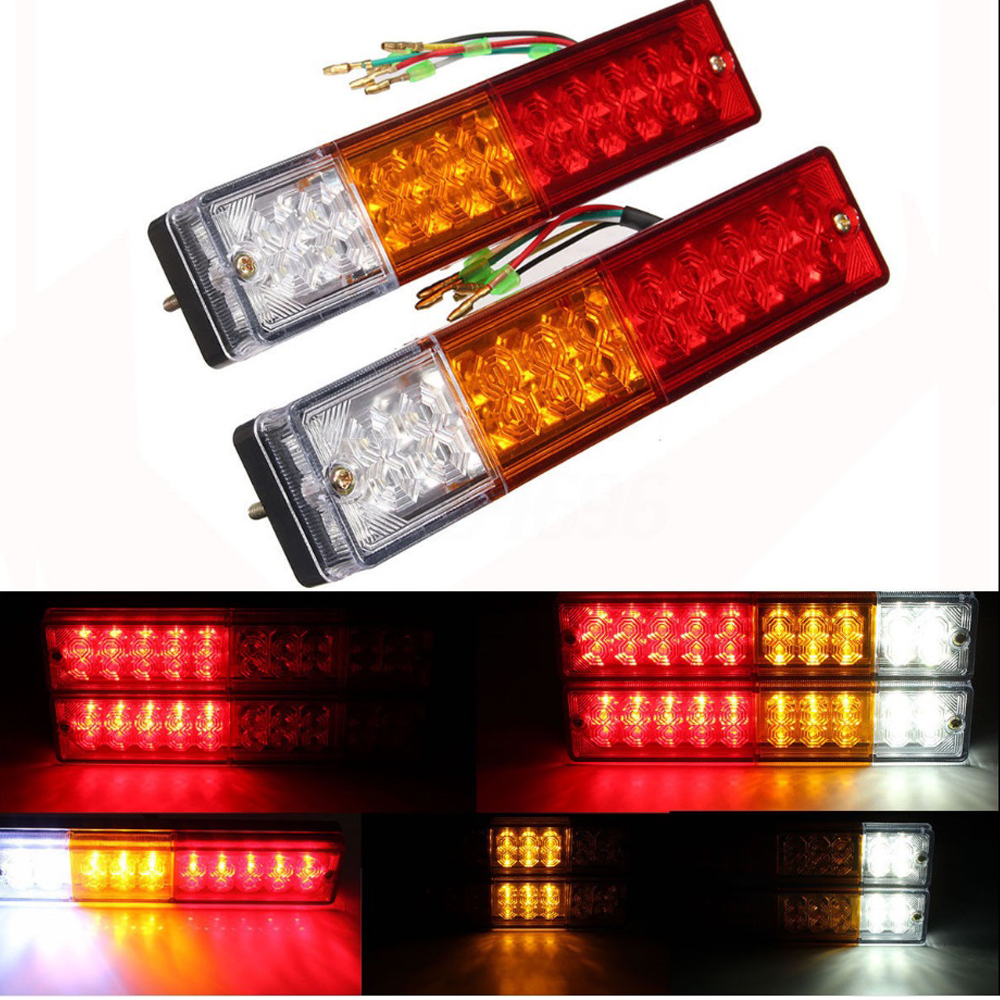 Truck Light System Waterproof 20leds Atv Trailer Truck Led Tail Light Lamp Yacht Car Taillight Reversing Running Brake Turn Lights 12v