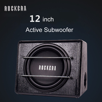 Hot 14kg 12 Inch High Power 12V 24V 220V Round Active Car Subwoofer Speakers Car Audio