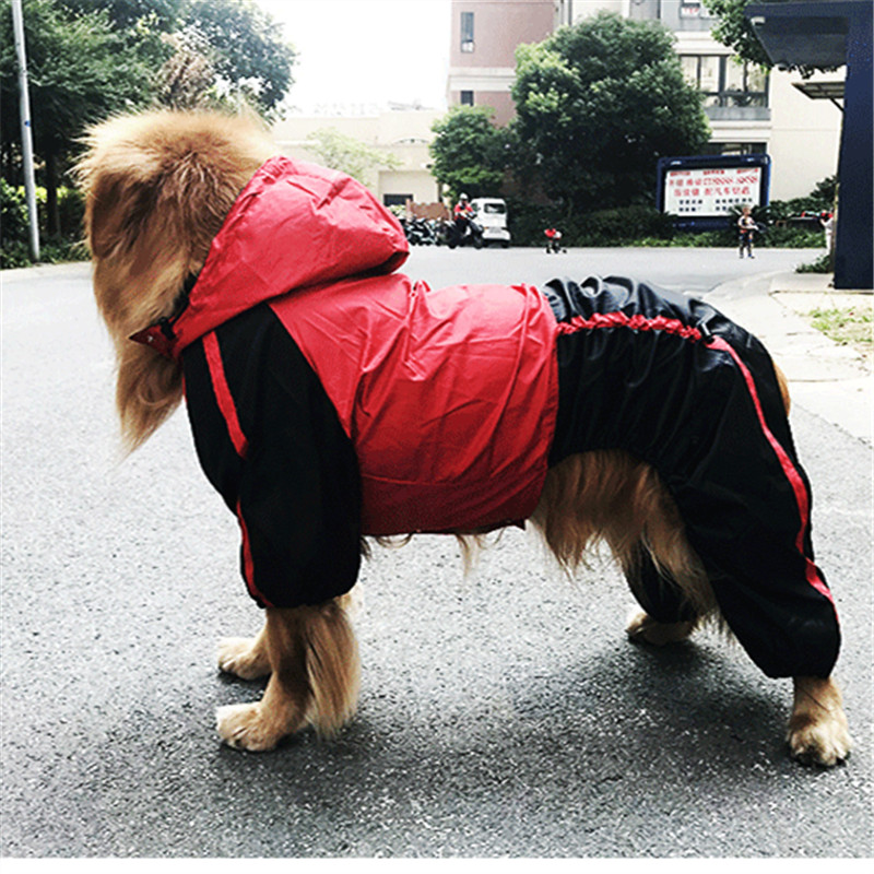 22Off Golden Border Regenmantel Retriever Kleidung Collie Overall Pet große Hund Wasserdichte Haustier Us15 Für Regen Jacke 48 WHIDE29