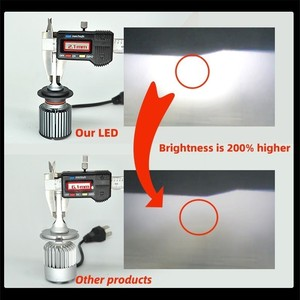 2 шт. H4 H7 Автомобильные светодиодные фары H1 H4 H11 9005 HB3 9006 HB4 9012 D2S D2R H7 светодиодные лампы CSP 10000LM 6000K Мини размер лампы для автомобильных фар