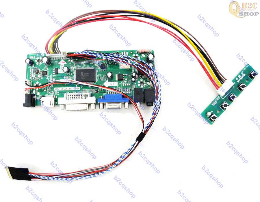 Forceful Hdmi+dvi+vga Lcd Controller Driver Monitor Kit For Lp156wh4 n2 Lp156wh4-tln2 Led Panel 1366x768 tl