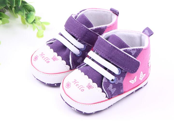 Brand Children Baby Kids Girls Shoes Autumn Non-Slip Toddlers First Walkers Bebes Zapatos Ninas Newborn Infantil Butterfly