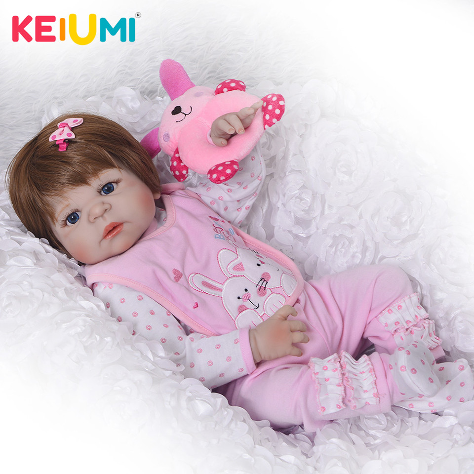 New Princess Doll Reborn 23'' Silicone Vinyl Full Body Reborn Dolls Babies Girl with Wig Baby Toys Playmates For Kids Alive Gift чехол deppa art case и защитная пленка для sony xperia z3 compact танки протектор