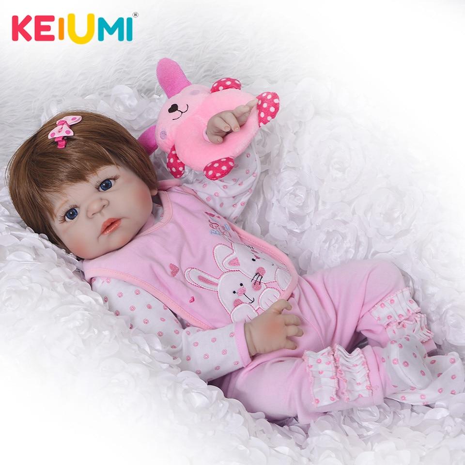 Nuova Principessa Bambola Reborn 23 ''Silicone Vinile Corpo Pieno Bambole Reborn Neonati Ragazza con la Parrucca Del Bambino Giocattoli Compagni di gioco Per bambini Regalo Vivo