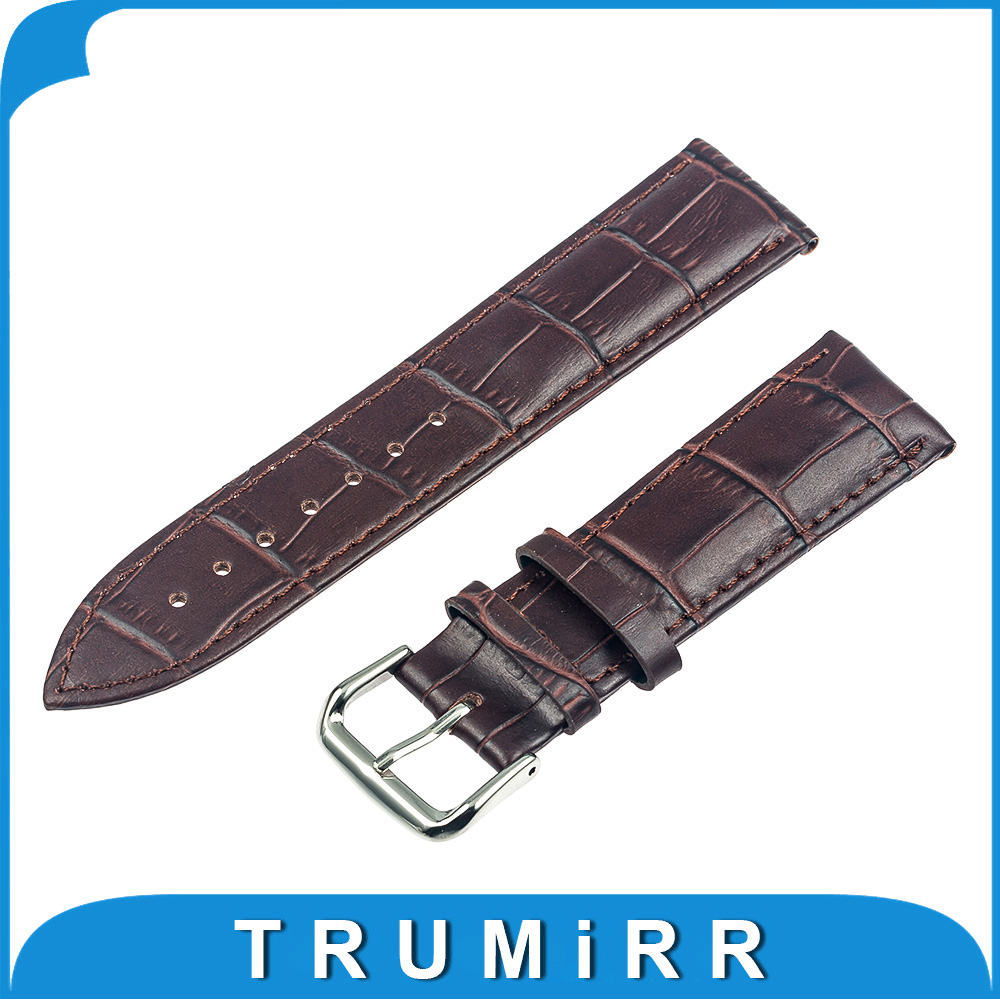 20mm Genuine Leather Watch Band Bracelet Strap for Moto 360 2 Gen 42mm 2015 Samsung Gear S2 Classic (SM-R732) Pebble Time Round 20mm watch band milanese mesh stainless steel strap bracelet for samsung gear s2 classic sm r7320 moto 360 2 2nd gen 42mm 2015
