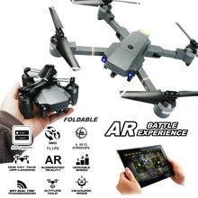 ATTOP XT-1 2.4Ghz RC Quadcopter Foldable Drone One Key Take Off & Land WIFI FPV Drones w/ HD Camera Altitude Hold Headless Mode
