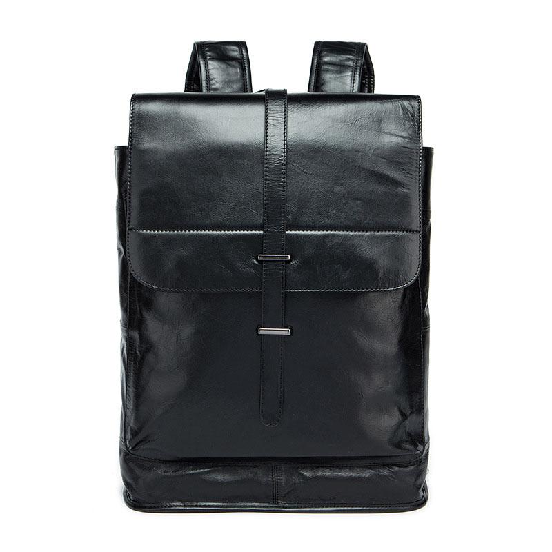 Fashion luxury brand cover men's laptop backpacks Cow Leather Europe and the United States trend leather student bags