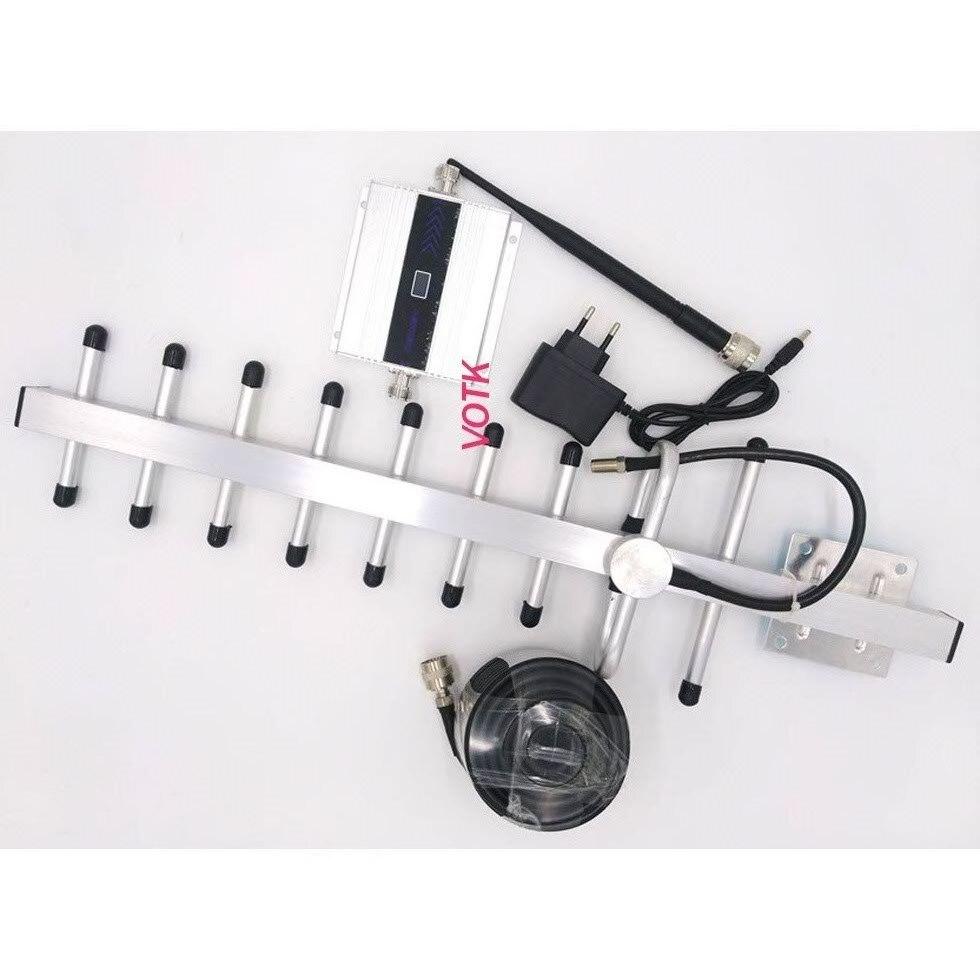 Répéteur de signal GSM! Amplificateur de signal GSM 900mhz amplificateur de signal pour téléphone mobile avec câble d'affichage LCD 13dbi yagi 50ohm