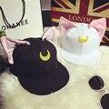 Envío gratis Anime Sailor moon sombrero de moda Harajuku Luna gato gorra de béisbol del sombrero de Cosplay accesorio sombrero nuevo