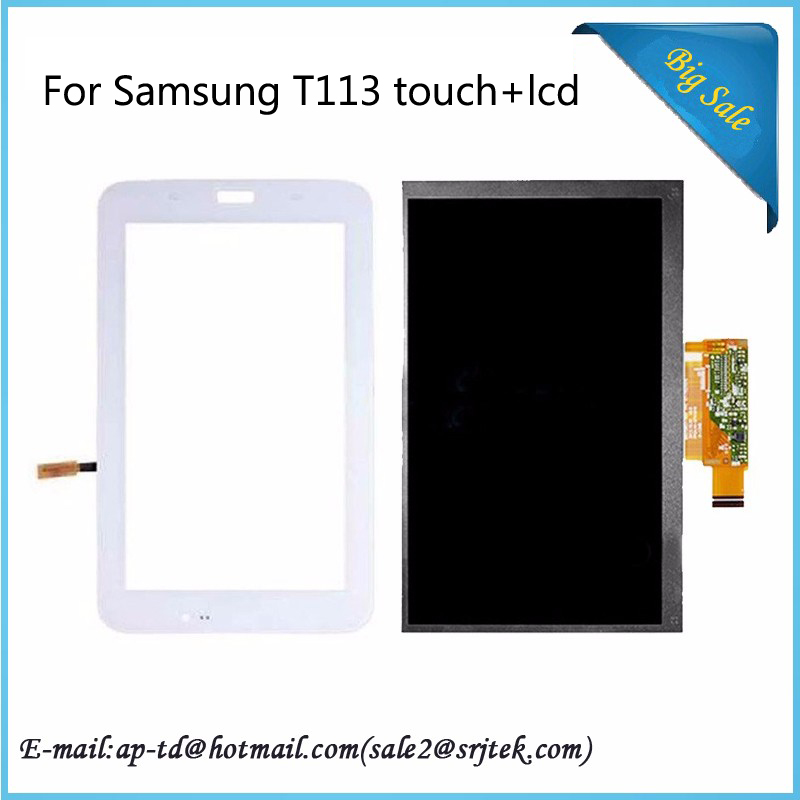 Best Quality 7inch For Samsung Galaxy Tab 3 Lite 7.0 inch SM-T113 T113LCD Display With Touch Digitizer Sensor Parts tablet pc
