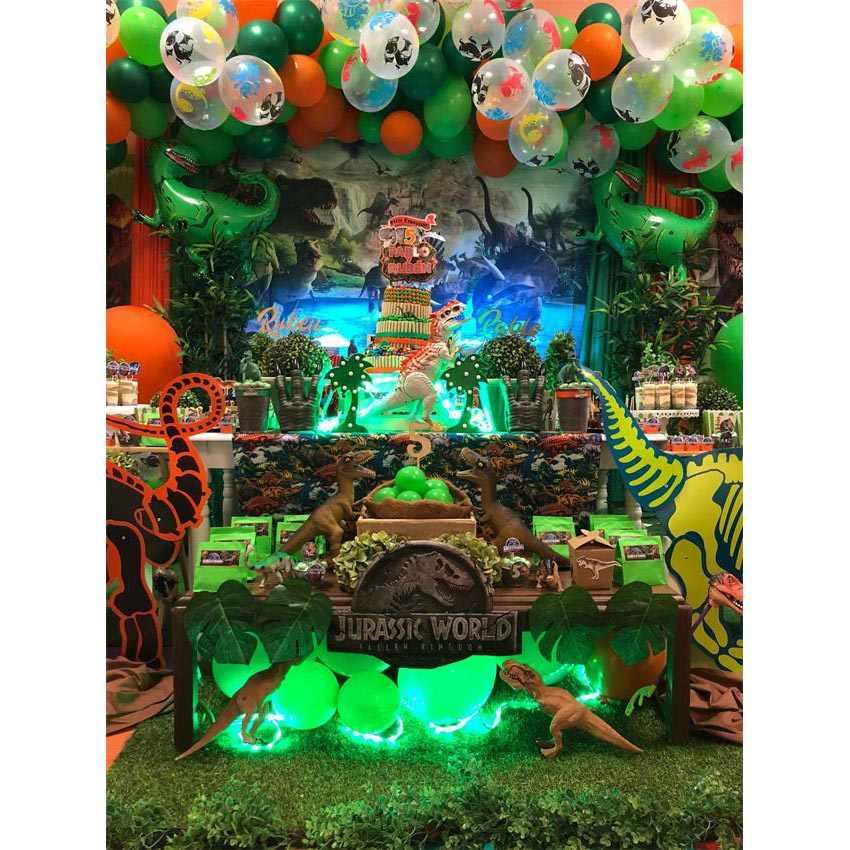 MEHOFOTO świat jurajski fotografia tło dinozaur Safari dżungla tła imprezowe na dekoracje urodzinowe zdjęcie tło