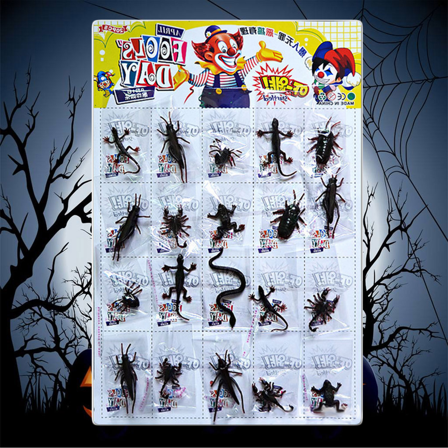 Besegad 20PCS Funny Realistic Plastic Insect Prank Toy For Kids Children Gift Halloween April Fool Day Party Decoration
