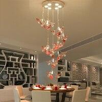 European Crystal Pendant Light living room Pendant Light simple modern bedroom restaurant ceramic double floor living room lamps