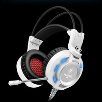 Gaming Headset Auriculare With Microphone LED Light 3 5mm Deep Bass Surround Stereo Headphones For Computer