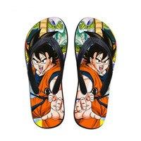 FORUDESIGNS Anime Dragon Ball Z Print Mens Summer Slippers Cool Son Goku Flip Flops Sandals Rubber