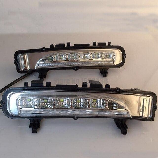Led Daytime Running Light For Ford Edge    Drl Fog Lights Bumper Lamp With Turn Signal Light
