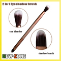 Noble Golden Color 2 in 1 eye shadow brush blender super fine soft contour makeup eyes brush multi function Cosmetic tool