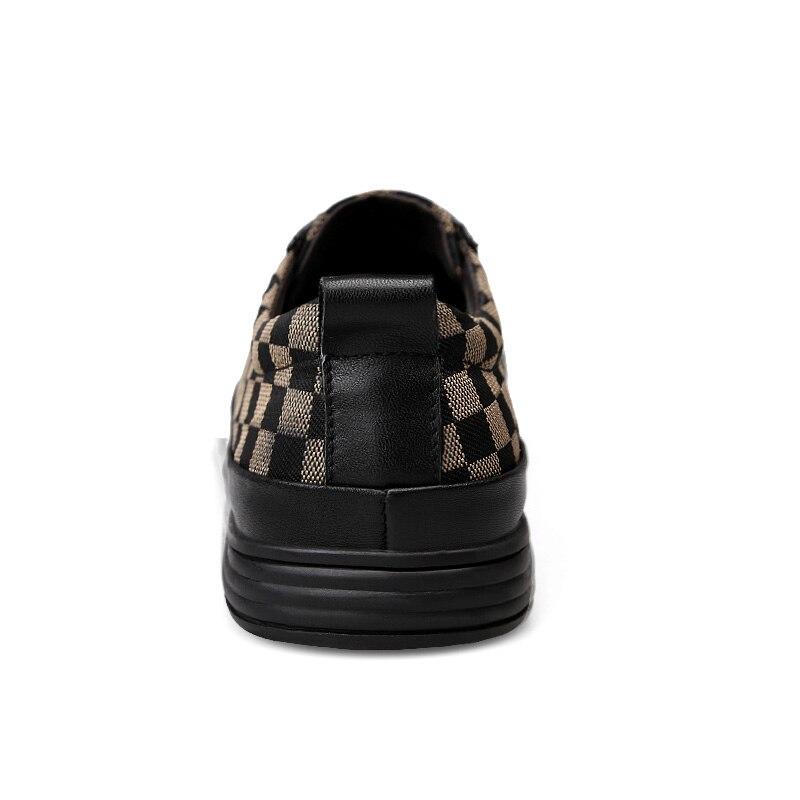 Appartements En Pour Style Chaussures Qualité Mocassins Hombre Souples Noir Hommes Avec Baskets Cuir Supérieure Automne Zapatos marron De Toile gris Confortables xAnSWO8wS