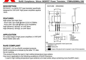 Image 5 - RD15HVF1 RD15HVF1 101 RD15 HVF1 175MHz520MHz, 15W הסיליקון MOSFET כוח טרנזיסטור חדש מקורי 10 יח\חבילה