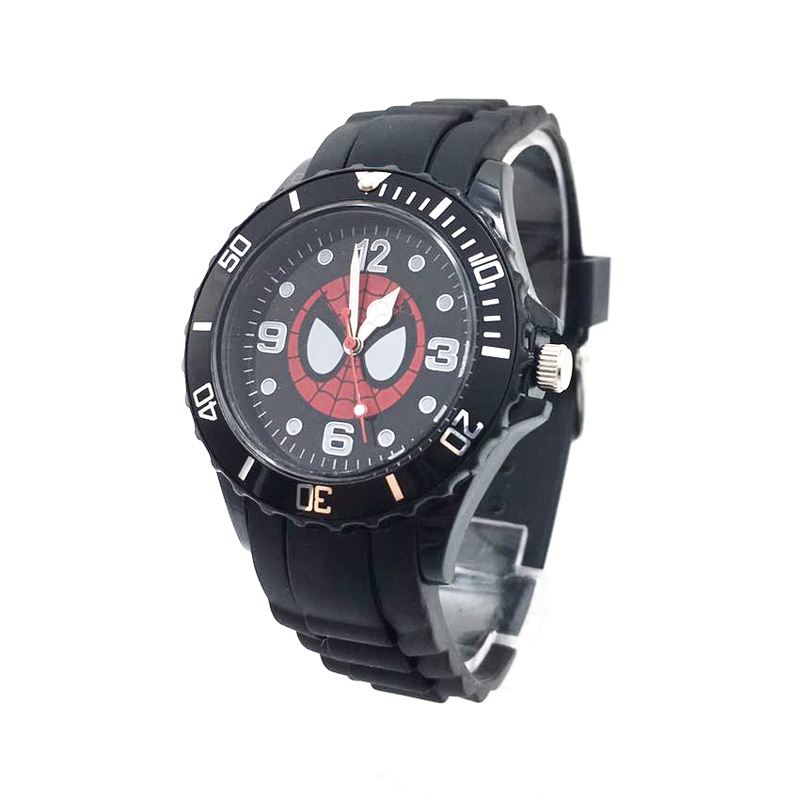 The Avenger Captain America students watches quartz wrist watch for kids cool boys clock black pu strap drop shipping (30)