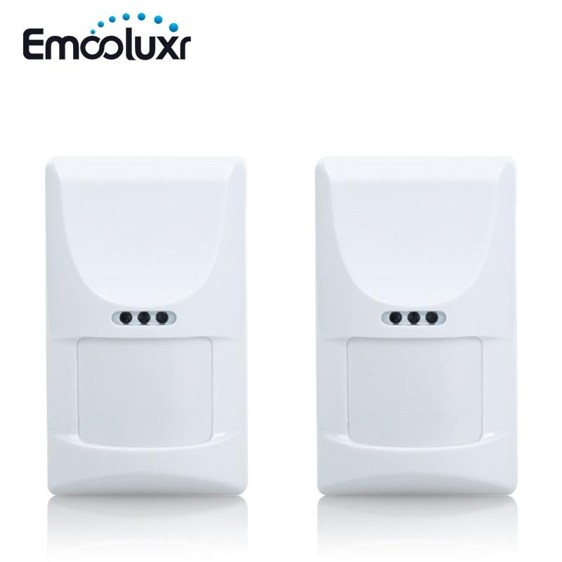 2pcs/lot Wireless Indoor Pet Friendly PIR Motion Sensor, 433MHz/2262 Code, for home alarm system G90B and G19,8218G,G15,G18 2 pcs fi5 g18 bp6l q12