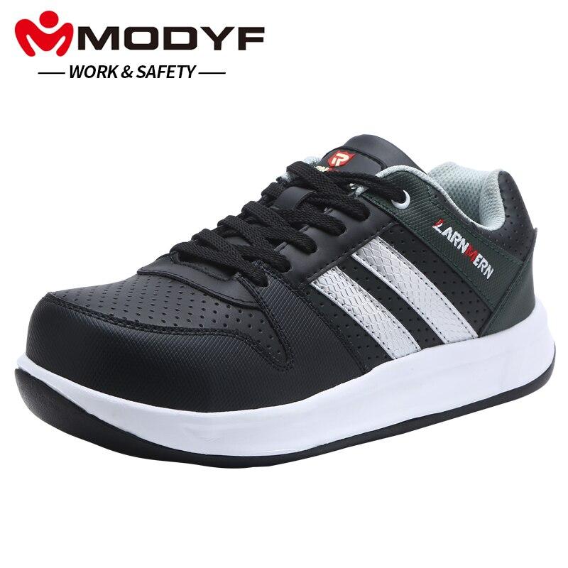 MODYF Homens Sapatos de Segurança com Biqueira De Aço Sapatos de Trabalho Flats Casual Calçado Sapatilha de Proteção