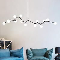 Lindsey Modern Lustre G4 Led Chandelier Rod Hang Chandelier For Living Room Loft Chandelier Lighting Indoor Hanglamp Fixtures