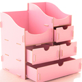 Grande capacidade de armazenamento caixa de armazenamento DIY caixa de madeira organizador de maquiagem caixa de jóias gaveta orgainzer