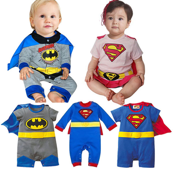 9 Styles! 2015 Baby Boy Clothes Batman Jumpsuit Cotton Baby Girl Rompers Superman Long / Short Sleeve Newborn Boys Baby Clothing | Happy Baby Mama