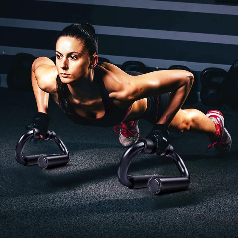Accueil hommes et femmes s-type tube en acier à haute teneur en carbone push-up bras bras appareil d'entraînement musculaire