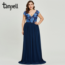 Tanpell backless long evening dress mint sleeveless lace a line floor length dresses women wedding party formal gown