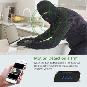 Image 3 - Mini horloge de caméra HD 4K WiFi horloge miroir intelligente avec Vision nocturne détection de mouvement IP horloge prise en charge Android/iOS vue de téléphone Vi