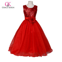 Beauty Cute Kids Evening Gowns Flower Girl Dresses For Weddings Satin Girls Pageant Party Dress First