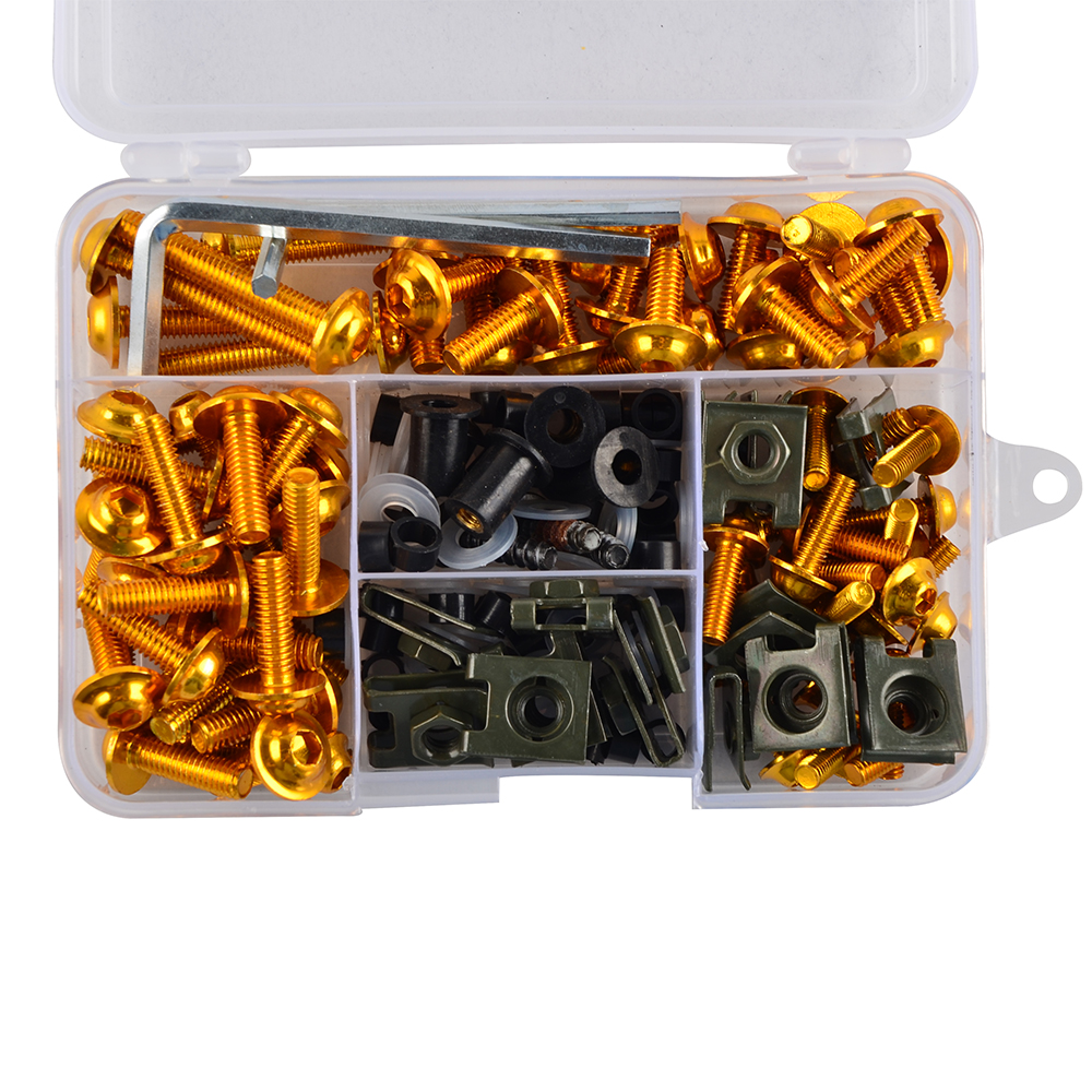 NICECNC Complete CNC Fairing Bolts Kit Bodywork Screws Nut For Suzuki <font><b>Bandit</b></font> 600 <font><b>1200</b></font> 1250S GSF600S <font><b>GSF1200</b></font> <font><b>GSF1200</b></font> GSF1250S image