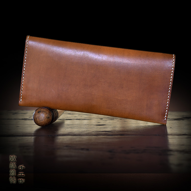 OLG YAT Italian Vegetable tanned leather handmade font b wallet b font font b men b