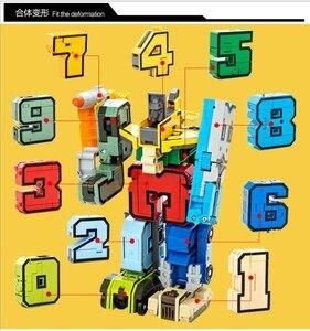 Image 2 - GUDI blocs de briques robotisées 10 en 1, assemblage créatif, figurines, éducatif, transformateur, numéro, jouets pour enfants, cadeaux