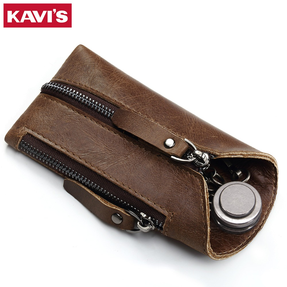 The Cheapest Price Women Genuine Leather Housekeeper Key Wallet Smart Car Bag Pouch Ring Wrap Organizer Case Man With Coin Card Holder Keychain Quality First Coin Purses & Holders