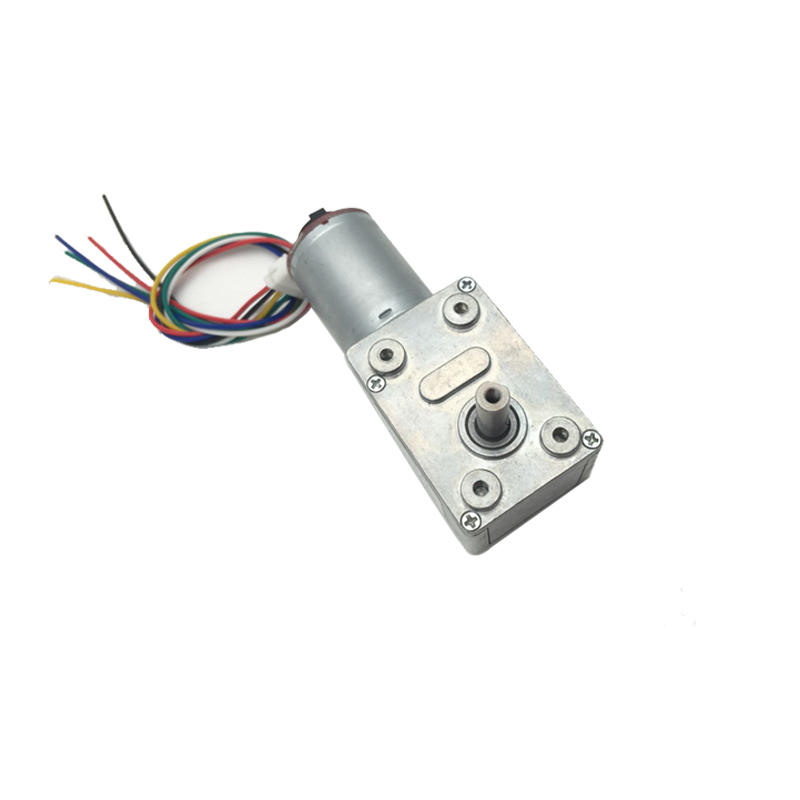 DC Motor High Torque Geared Reduction Motor 12V 30RPM with Encoder Srong Self-locking