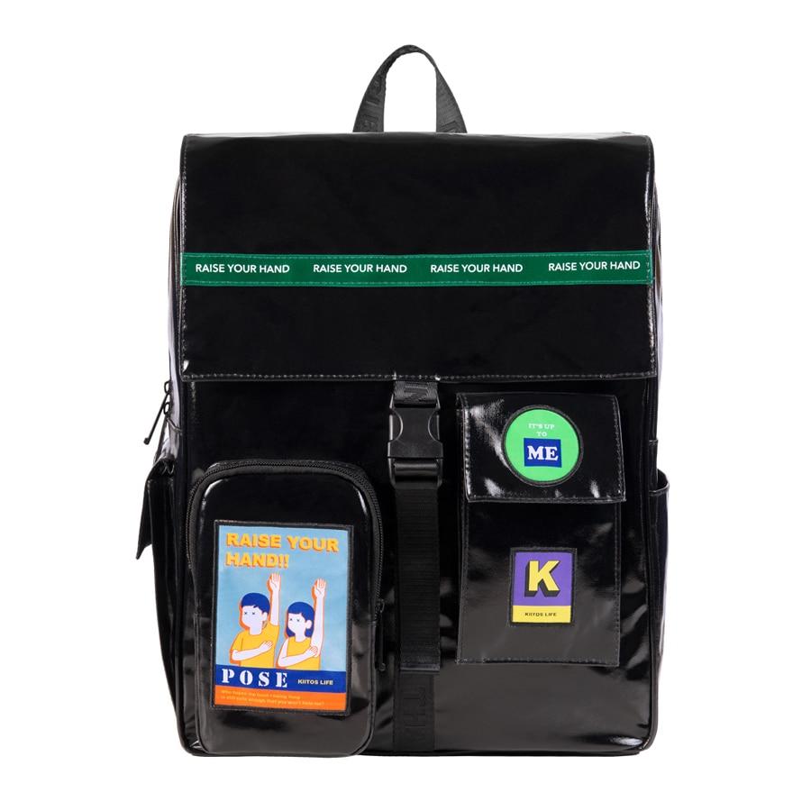 2019 Original Black Waterproof Large Backpacks School Bags For Teenagers 15.6inch Laptop Bags In POSE Series 2(FUN KIK)