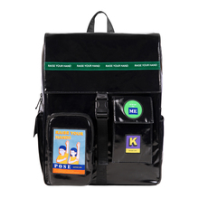 Originale di 2019 nero impermeabile grandi zaini sacchetti di scuola per adolescenti 15.6 pollici borse per notebook in POSA serie 2 (DIVERTIMENTO KIK)