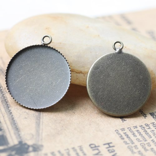 Free shipping!!! 500pcs/lot 25MM bronze color Cameo Cab Base Setting Pendant finding CCP0003