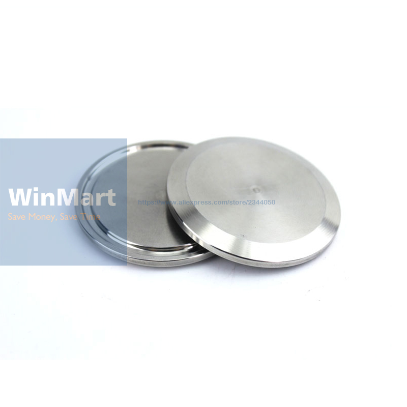 "1 StÜck 1,5 ""tri Clamp Ferrule O/d 50,5mm 304 Edelstahl Sanitär Tri Clover Stop Ende Kappe Decke"