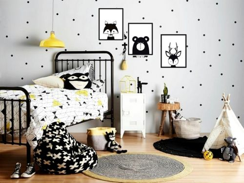 3pcsset Nordic Style fox deer bear wall decal Woodland