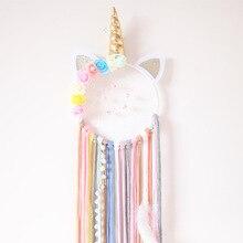 Cute Unicorn Dream Catcher Handmade Catchers For Girls Kids Nurser Rainbow Home Decor Nursery Bedroom Room Wall Accessory